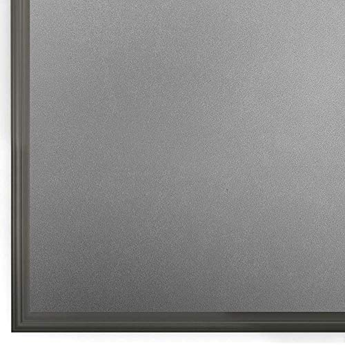 Rabbitgoo窓用ガラスめかくしシート曇りガラスフィルムすりガラス目隠しシートマドピタ飾りシート不透明目隠し日よけ遮光水で貼ってはがせるUVカット紫外線対策飛散防止防犯防災断熱結露防止浴室お風呂食器棚おしゃれ水で貼れるまど小窓の硝子サッシシール磨りガラスふぃるむ網入りガラス適用(艶消し灰黒90x200cm)