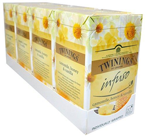 Twinings of London INFUSO Kamille , Honig , Vanille 4 x 20 Teebeutel