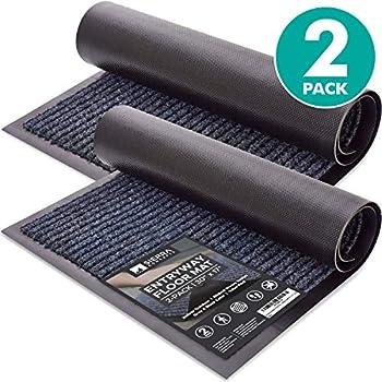 2-Pack Sierra Concepts 30 X 17 Inch Striped Door Floor Mat