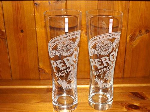 Vaso de Pinta de Cerveza Peroni CE 568 ml, juego de 2