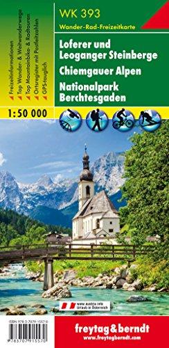WK 393 Loferer und Leoganger Steinberge - Chiemgauer Alpen - Nationalpark Berchtesgaden, Wanderkarte 1:50.000: Wandel- en fietskaart 1:50 000 (freytag & berndt Wander-Rad-Freizeitkarten)