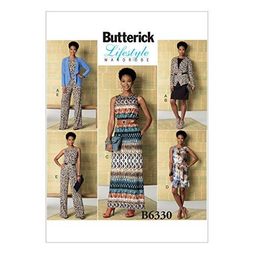 BUTTERICK PATTERNS B6330 Misses' Jacket, Elastic-Waist Dress, Romper & Jumpsuit, ZZ (Large-X-Large-XX-Large)