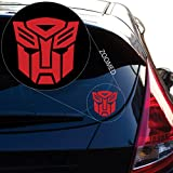 Yoonek Graphics Autobot Inspired Transformer Decal Sticker for Car Window, Laptop and More. # 544 (4' x 4', Red)