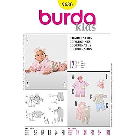 Burda Pattern 9831 Child Coordinates