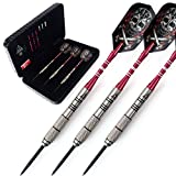 CUESOUL Tungsten Steel Tip Darts- Precise Barrels 24 Grams 90% Tungsten with Luxury Case