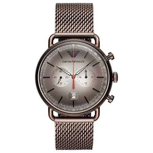 Emporio Armani Reloj Cronógrafo para Hombre de Cuarzo con Correa en Acero Inoxidable AR11169