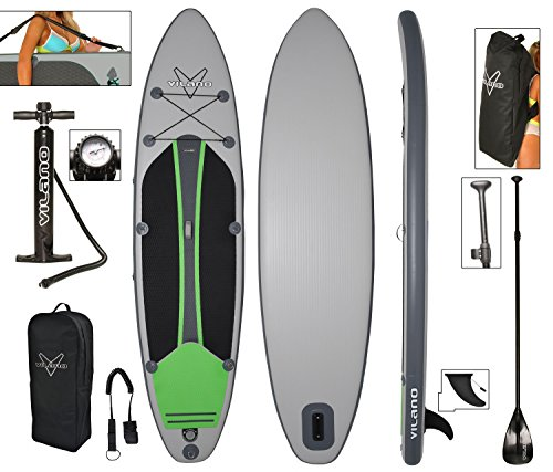 Vilano Voyager Inflatable SUP Stand Up Paddle Board, Includes Pump,...