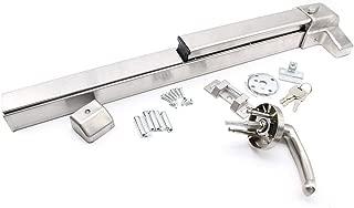 Door Push Bar Handles with Exterior Lever Emergency Lock Stainless Steel Commercial Door Push Bar Emergency Panic Exit Device Door Hardware (US Stock)