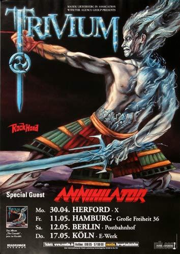 Trivium - The Crusade, Tour 2007 » Konzertplakat/Premium Poster | Live Konzert Veranstaltung | DIN A1 «
