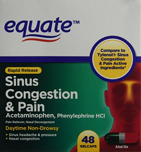 Equate Sinus Congestion and Pain 48 ct