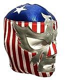 Del Mex Lycra Lucha Libre Adult Luchador Mexican Wrestling Mask Costume (Patriot America)