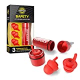 EarPeace Reusable Safety Ear Plugs – High Fidelity Hearing Protection for DIY, Construction, Work, Loud Environments and Airplane Noise Reduction (Standard, Red Case)