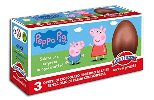 Tripack 3 Ovetti di Cioccolato al Latte PEPPA PIG con Sorpresa