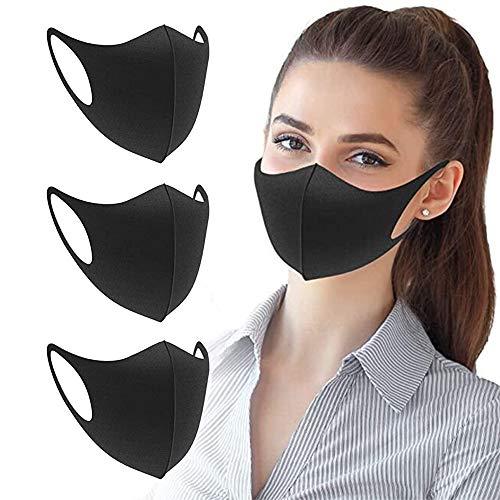 Tatopa Gesichtsmaske für Motorrad, Fahrrad, halbes Gesicht, Halloween, Outdoor, Sport, Kopfbedeckung, 3 Stück