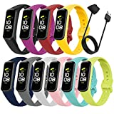 Bands Compatible with Samsung Galaxy Fit 2, Sport Band Replacement Straps for Women Men Wristbands Accessories for Galaxy Fit2 Smart Watch