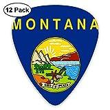 Montana Flag 12 pièces de médiators personnalisés pour guitare