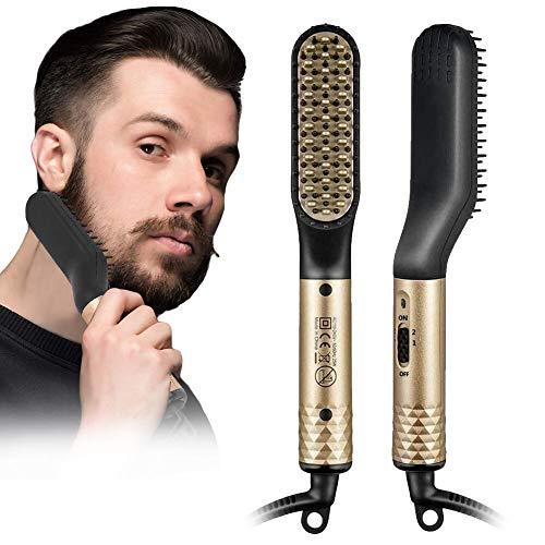 Peine alisador de barba para hombres, cepillo alisador de barba 2 en...