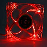 Logisys Computer LT400RD 80mm LED Case Fan (Red)