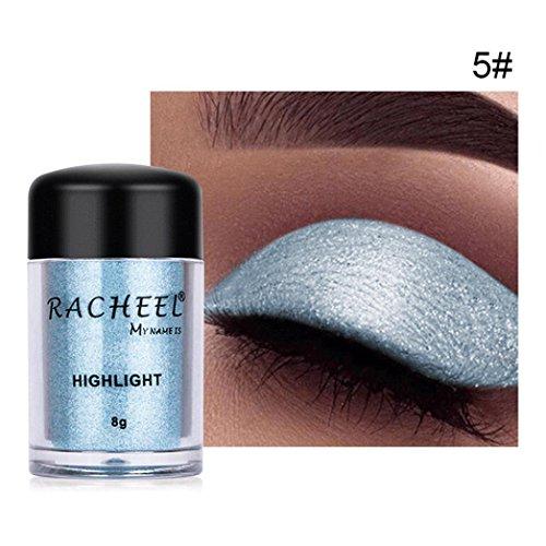 6 Farben Glitter Eyeshadow Powder,Internet Glänzend Matt Wasserfest Long-Lasting Lidschatten Highlight Kosmetischer Makeup Vegane Kosmetik Augenpalette Natürliche Farben Schimmer Set Ultra Naked
