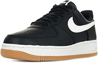Men's AIR Force 1 Low Casual Shoes (12, Black/White/Wolf Grey/Gum Med Brown)