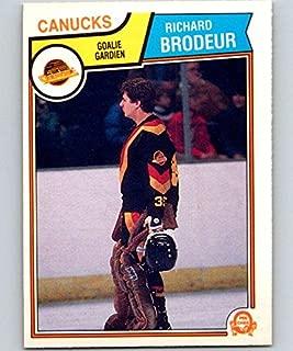 1983-84 O-Pee-Chee #346 Richard Brodeur Canucks NHL Hockey