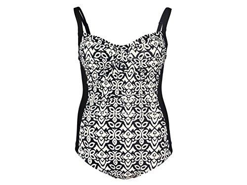 Esmara Damen Badeanzug Tankini Bikini Bade Anzug in verschiedenen Modellen und Größen 44-50 (48, Alloverprint)