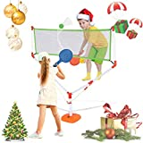 2 in 1 Racket Game Set - Family Kids Badminton Tennis Net Play, Suitable for Family Outdoor Beach, Parent-Child Games, The Best Solution for Multiplayer Activities (Green)