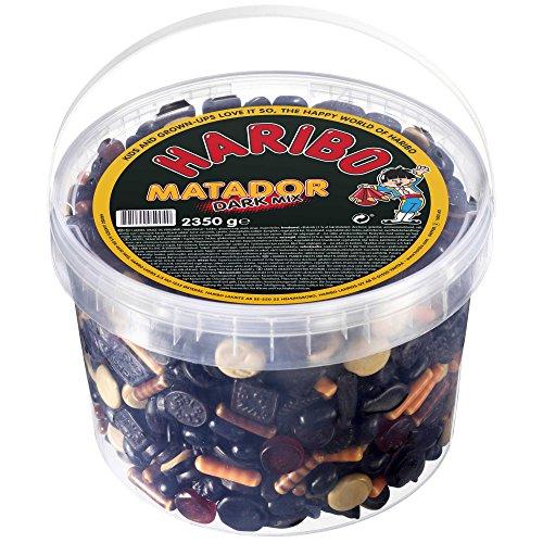 HARIBO Matador DARK Mix - licorice gummy mix -2350g -XXL TUB -