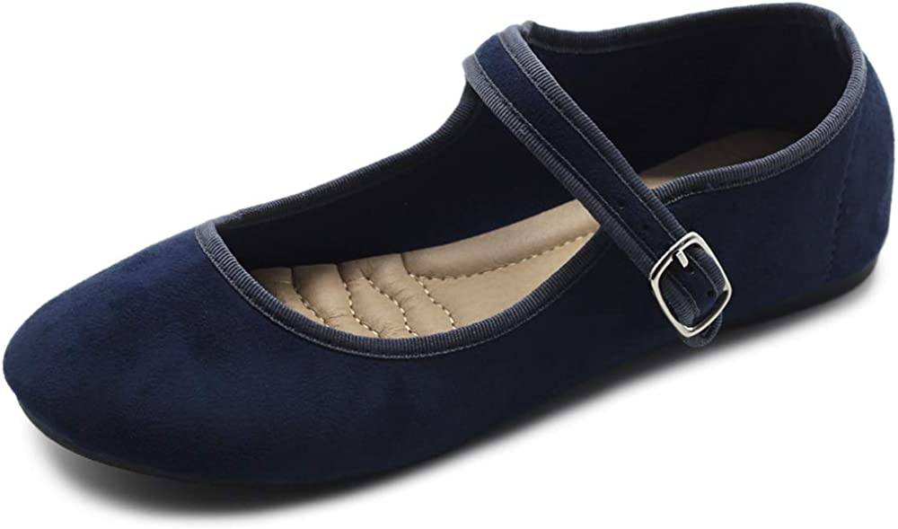 Ollio Super special price Today's only Women's Shoes Faux Suede Casual Light Jane Ballet Mary Fla