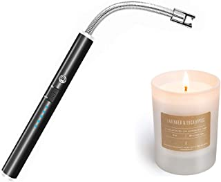 Veksun Candle Lighters,USB Rechargeable Electric Lighter Long Flexible and Windproof for Candles,Grill,Camping, Kitchen,Stove