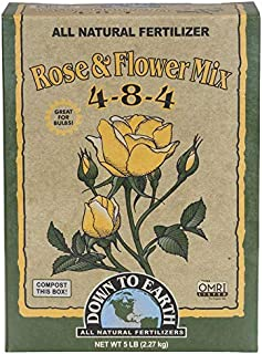 Down to Earth Organic Rose & Flower Fertilizer Mix 4-8-4, 5 lb