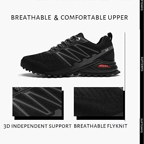 Bitiger Mens Running Shoes Trainers Sports Gym Walking Jogging Athletic Fitness Outdoor Sneakers Lightweight Working…