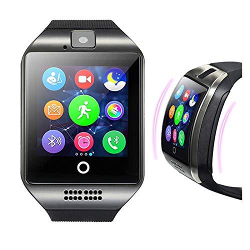 LXF JIAJU Bluetooth Smart Camera Watch gsm Cámara Enchufable TF Teléfono Watch para Android Y iPhone Pulsera Inteligente Compatible (Color : Black)