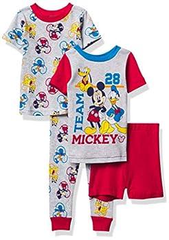 Disney Boys  Mickey Mouse Snug Fit Cotton Pajamas Team 28 3T