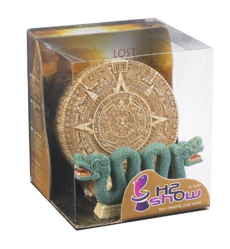 Hydor B00250 Aquariendekoration Lost Civilization Set Kalender und Schlange, Höhe 13 cm