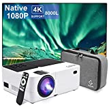Portable Native 1080P Projector, 8000L Full HD Mini LED...