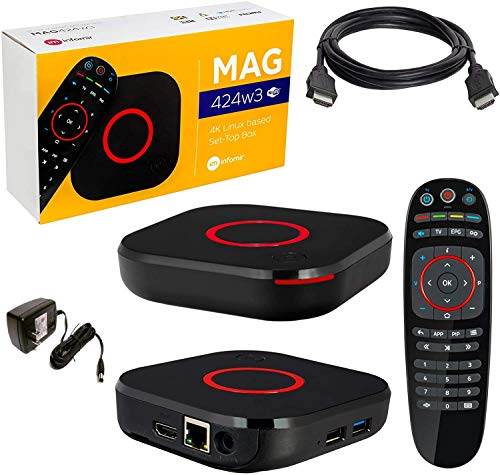 New 2020 Genuine Infomir 4K MAG 424 W3 600Mbps Built-in Dual WiFi 5G Replaced Older MAG 324 w2 and MAG 322 W1 Boxes