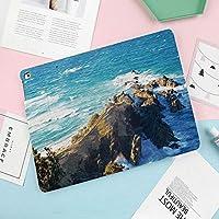 軽量版iPad Mini4 ケース クリア iPad Mini4 カバー レザー PU スタンド機能 スリム傷つけ防止 オートスリープ ハード2つ折タイプ iPad Mini4(第四世代) 専用ス波と海沿いのオーストラリアの崖の空撮