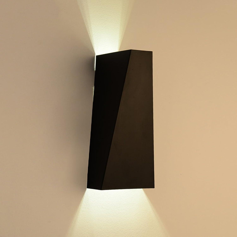 Good thing Wandleuchte Moderne einfache LED Eisen Wand Lampe Schlafzimmer Gang Korridor Beleuchtung Kreative Persnlichkeit Nachttisch Lampe ( Farbe   Schwarz )