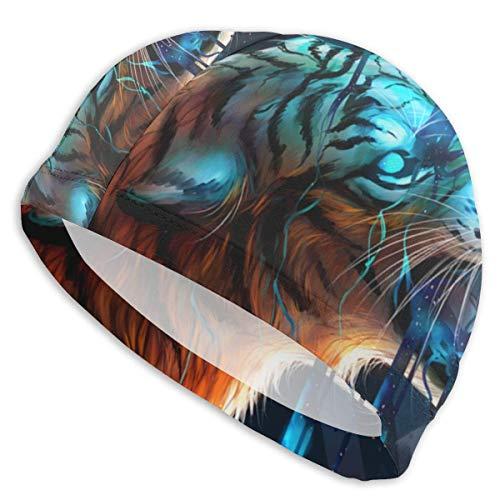 Gorro de natación para hombre y mujer, diseño de tigre...