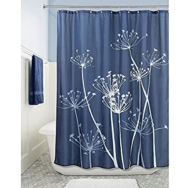 InterDesign Thistle Shower Curtain, Standard - Navy and Slate Blue