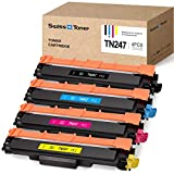 SWISS TONER TN247 Cartucce Toner Compatible con Brother TN-247 TN243 para Brother MFC-L3750CDW HL-L3230CDW MFC-L3770CDW HL-L3210CW DCP-L3510CDW HL-L3270CDW Impresora, Negro/Cian/Magenta/Amarillo