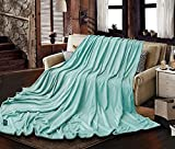 EP Mode Extra Large Throw Blanket for Family, Mega Size 10' x 8' (120 x 96 Inches), Seamless, Warm, Cozy and Static Free (Aqua Sky)