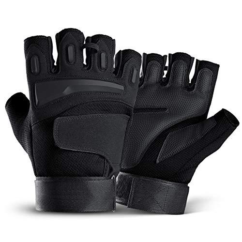 Cheaonglove Fingerlose Handschuhe Herren Handschuhe Herren Fingerlos Motocross-Handschuhe Bikerhandschuhe für Männer Winterhandschuhe für Männer Black,XL