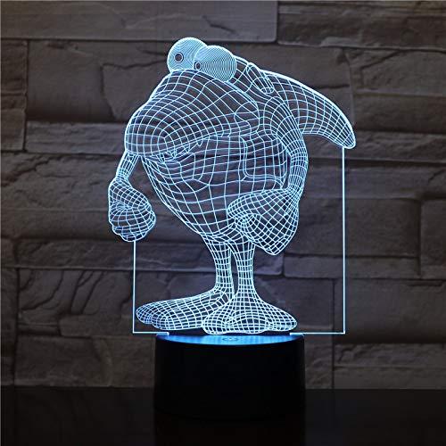 Sanzangtang Led-nachtlampje, 3D-vision-zeven, kleuren-afstandsbediening, dierkrocodil, nachtlampje, verkleuring, decoratief licht, voor kinderen, babykit, nachtlampje, krokodil, lichtprojector voor kinderen