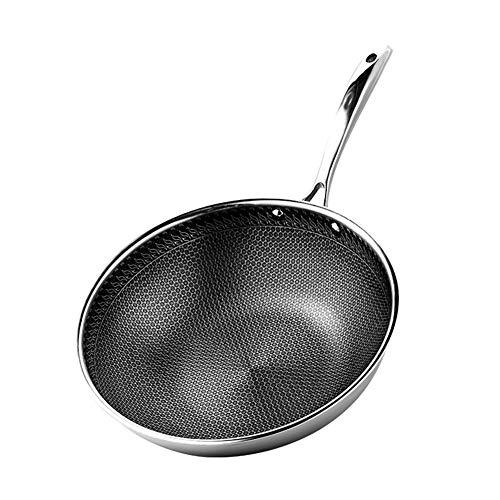 304 Roestvrij Stalen Pot Met Deksel Wok Zonder Olie Rook Inductie Kookplaat Gas Pan Huishoudelijke Multifunctionele Kookpot