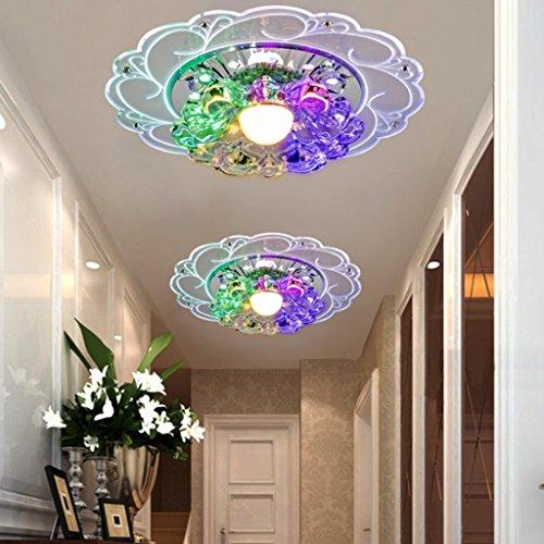 Lamp LU de Plafond LED Crystal Corridor Alloy (Couleur : A)
