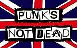 Punks Not Dead Flagge 5ft x 3ft groß–100% Polyester–Metall Ösen–doppelt genäht