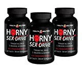 Testosterone Booster for Men Sex - Horny Sex Drive - Zinc Pills for Man - 3 Bottles 180 Tablets