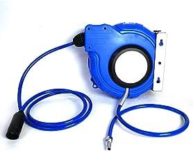 エアーホースリール 15m 自動巻き上げ ブラケット付 ブルー 壁掛 天吊り式 [DP015]